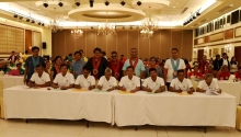 IMT contract signing with irrigators associations (IA) witnessed by NIA Administrator, Gen. Ricardo R. Visaya (Ret) (3rd from right). Accompanied by officials from NIA-C.O. namely, (L-R) Engr. Bayani P. Ofrecio, Dept. Manager - NIA IDD; Ms. Pilipina P. Bermudez, Dept. Manager – NIA-PAIS; and NIA5 officials; Engr. Wilfredo C. Papaya, Division Manager – NIA5 Engineering & Operations Division; NIA5 Regional Manager Vicente R. Vicmudo, Ph. D.; Hon. Silvestre B. Bonto, NCIA President/Member – NIA Board of Direct